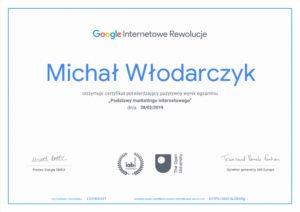Certyfikat Google Internetowe Rewolucje