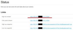 yi-hack - RTSP adres